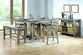 Wood Dining Room Rustic Table Set Distressed 6 Barrister Ii Collection Wooden And