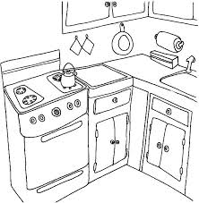 Boiling Water In The Kitchen Coloring Pages