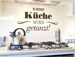 wandtattoo spruch in meiner küche wird getanzt küchendeko