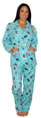 pj salvage dogs blue pajama set cozy slippers