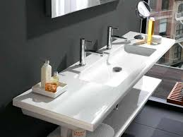 large bathroom sink with 2 faucets undermount trough chrome swivel