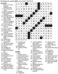 Cabinet Dept Vip Crossword by The New York Times Crossword In Gothic June 2009
