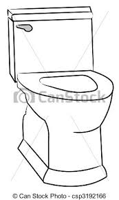 White toilet with the seat left open stock illustration Search
