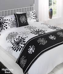 White And Black Bedding by Duvet Cover With Pillow Case Quilt Bedding Set Bed In A Bag Double
