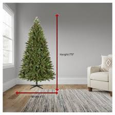 75 Ft Slim Christmas Tree by 7 5ft Prelit Artificial Christmas Tree Douglas Fir Multicolored