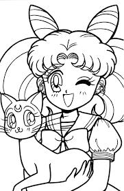 Projects Idea Sailor Moon Coloring Book Tsuki Matsuri THE Sailormoon Archive