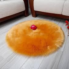 runde imitation wolle teppich teppiche plüsch kissen mode hause wohnzimmer schlafzimmer decke günstige kann wasch fell teppich dt 22