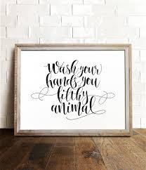Leopard Print Bathroom Wall Decor by Wash Your Hands Sign Printable Art Bathroom Prints Funny