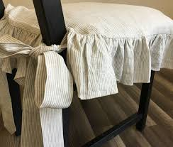 Linen Ticking Striped Chair Slipcover With Ruffles And Ballerina ... Chair Covers And Sashes Blue French Slipcovers Cedar Hill Farmhouse Ding Room Also Chair Ottoman Slipcovers Spandex Stretch Elastic Cloth Ruffled Washable White Oversized Best Home Decoration Country Linen Seat Cover With Ruffle Decor Slipcover For Parson Chairs Create Awesome Junk Chic Cottage Happy Sundayahaaa This Is Exactly The Slip By Paulaanderika On Etsy 9000 100 Ruched Fashion Embossed Spandex Ruffled Covers Buckle Wedding