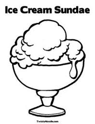 Coloring Pages Ice Cream Sundae This Will Print Full Screen For The