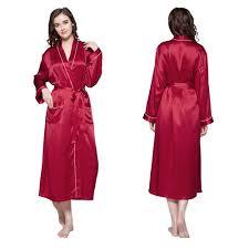 robe de chambre femme de chambre longue en soie bordure contraste