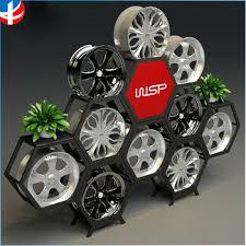 Tire Display Rack Wheel Stand Hub Cube