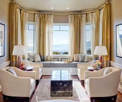 modern living room interior bay window seat bay window