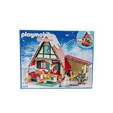 maison du pere noel playmobil playmobil maison du père noel et bleu acheter en ligne