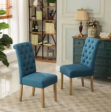 Parson Chair Slipcovers Amazon by Amazon Com Roundhill Furniture Habit Solid Wood Tufted Parsons