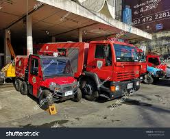 100 Red Fire Trucks Bangkok Thailand August 20 2019 Local Stock Photo Edit Now