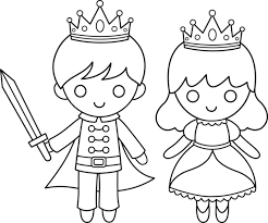 Little Prince Coloring Pages And Princess Line Art Free Clip