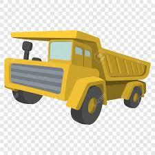 Building Truck. Tipper Cartoon Illustration. Single Icon On ...