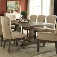 Acme Landon Trestle Dining Table In Salvage Brown 60737A
