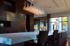 exquisite modern kitchen island light clear teardrop glass linear