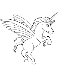 Realistic Flying Unicorn Clipart