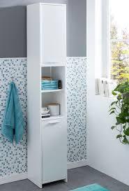wohnling badschrank modern 30 5 x 190 x 30 cm weiß badezimmerschrank mit 2 türen