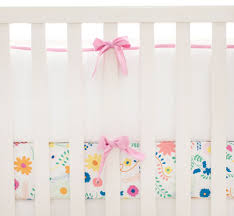Hot Pink and White Crib Bumper Bright Pink Crib Bumper Crib