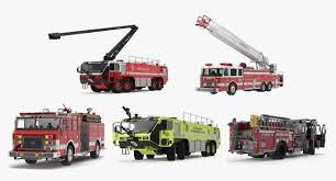 100 Model Fire Trucks 3D Rigged 3D S Collection 4 3D Molier International