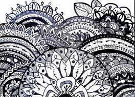 Zentangle For Adults Printable Coloring Page