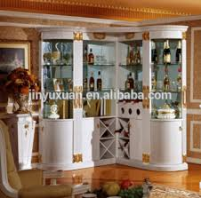 Home Furniture Big Size Corner Wine Cabinet With Bar 3029