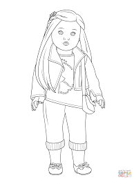Doll Coloring Pages American Girl Isabelle Page Free Printable For Kids Download
