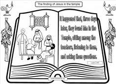 Finding In The Temple Coloring Pages