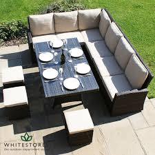 patio sofa dining set wonderful outdoor dining sofa set maze rattan kingston corner sofa