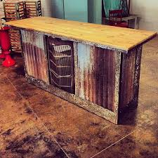 Rustic Bar Table Wood And Metal Hot Rod By IronAlterations