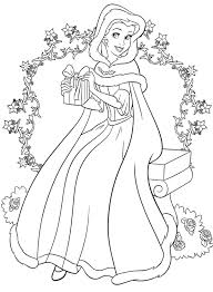 Disney Princess Christmas Coloring Pages Free Printable Wolf