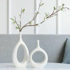 keramik vorbau blumen hohl vase blumenmuster dekoration für