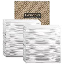 2x4 Drop Ceiling Tiles by Amazon Com Genesis Drifts White Ceiling Tile Drop Grid