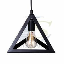industrial triangle lshade pendant l covers pendant light