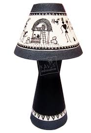 Rawhide Lamp Shades Amazon by Handmade Lampshades Decorated With Indian Tribal Traditional Art
