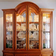 China Cabinet Ikea And Lighted Display Glass Door Gray Wall Paint Color