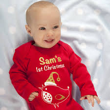 personalised u0027my first christmas u0027 robin baby grow by a type of