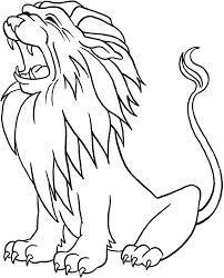 Lion Roar Coloring Pages Printable
