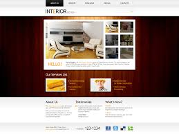 100 Home Interior Website Free Template Clean Style