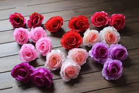 Diameter 9 10cm Artificial Silk Half Open Camellia Rose Fabric Peony Flower Heads For More Colors To Choose Roses