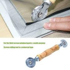 wood metal screen window spline roller gauze wheel door