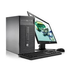 ordinateur de bureau hp hp ordinateur bureau 280 g1 g3260 20 pouces free dos 500 go
