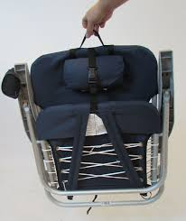 Rio Gear Backpack Chair Blue by Rio 4 Position Deluxe Lace Up Aluminum Backpack Chair