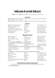 Browse Actor Resume Template Google Docs Download