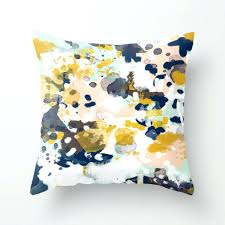 Abstract Throw Pillows Society6 Blue And White Needlepoint Pillow