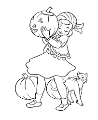 Halloween Costume Coloring Pages